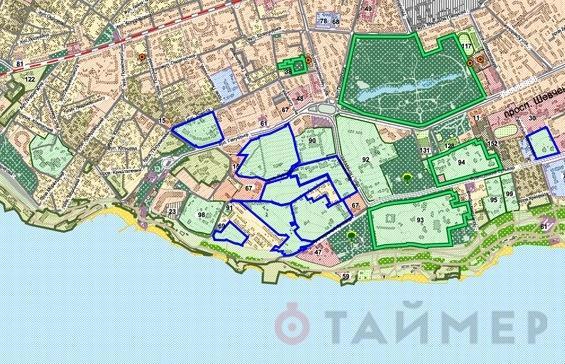 Генплан Одессы. Схема существующего использования территорий - Одесский Политикум