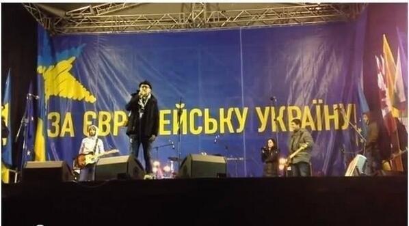За ЕВРЕЙСКУ УКРАІНУ - надпись сцене ЕВРОМАЙДАНА в КИЕВЕ - Одесский Политикум
