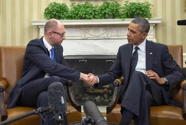 Знаменитый еврей Украины - Арсений Яценюк и Барак Обама - Одесский Политикум